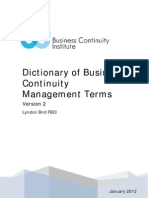 Dictionarii of Business Continuity