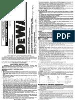 Dewalt DW433 Sander