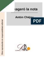 Chejov, Anton - Exageró la nota