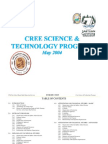 Cree Science & Technology Program 2004