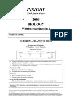 VCE Biology Exam