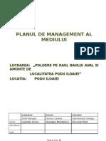 Planul de Management Al Mediului