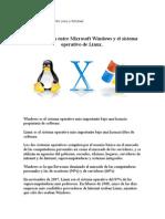 Comparación Entre Microsoft Windows y El Sistema Operativo de Linux