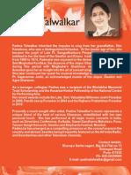 short profile of vocalist Padma Talwalkar (born 28 Febr 1948)
