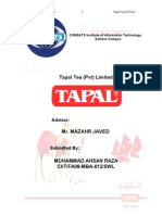 Internship Report on Tapal Tea (Pvt) Ltd.