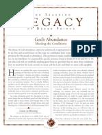 Derek Prince- God's Abundance!
