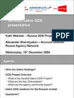 Aeroflot Sabre Presentation