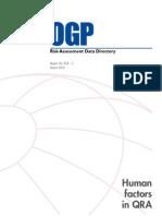 OGP 434-5 Human Factors in QRA