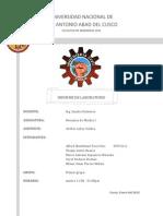 LABORATORIO FLUIDOS (VENTURIMETRO)