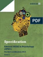 GCSE Psychology Spec-2012