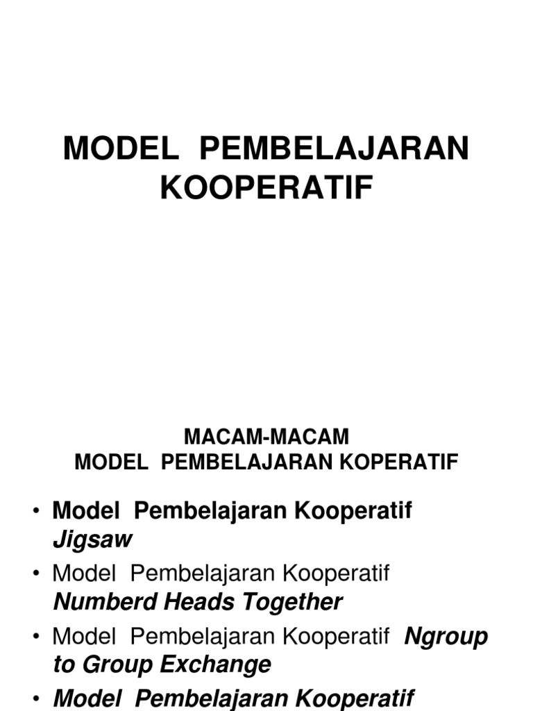Model Pembelajaran Kooperatif Power Point