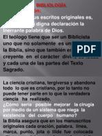 1 Bibliología