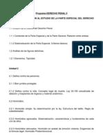 Programa Derecho Penal II