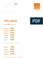 Syllabus Bengali