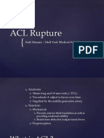ACL Rupture and reconstruction