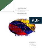 Ley de Presupuesto y de Endeudamiento Para El Ejercicio Fiscal 2013 (1)