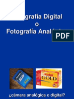 Fotografia Digital vs Analogica