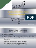 Aplikasi Statistika Dalam Penelitian Pendidikan