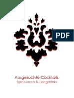 Cocktailkarte Luftschloss Februar 2013