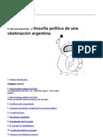 José Pablo Feinmann - Peronismo. Filosofía política de una obstinación argentina.