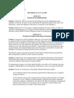 Medical Act of 1959 Plus Amendments Clear Copy
