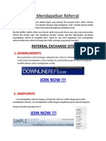 Cara Mendapatkan Referral Program Online
