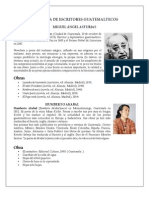 20 Personajes de La Literatura Guatemalteca Franja