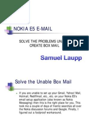 NOKIA E5 E-MAIL | Gmail | Email Address