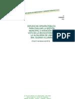 CPI ESTUDIO DE OPINIÓN PÚBLICA:PARA EVALUAR LA GESTIÓN MUNICIPAL E INTENCIÓN DE VOTO EN LA REVOCATORIA DE LA ALCALDESA DE LIMA, SRA. SUSANA VILLARÁN (16 al 21 de febrero de 2013)