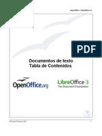 Documentos de texto. Tabla de Contenidos (OpenOffice.org y LibreOffice)