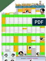 Calendário Escolar Mafalda12-13