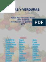 Proyecto de Introduccion Frutas y Verduras