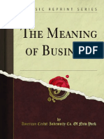 The Meaning of Business Old Books