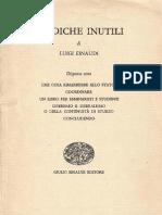Luigi Einaudi Prediche inutili - Concludendo (1959)