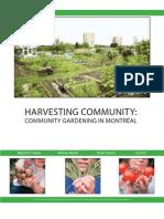 Montreal Community Gardening