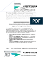 COMPETICION 18 2008 - 2009