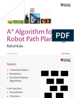 A* Algorithm for Robot Path Planning