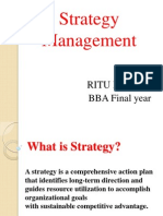 Nature of Strategy Operation Management