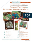 Quilting Arts Six Sewing Patterns
