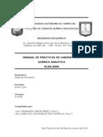 Manual de química analítica con diagramas actuales.