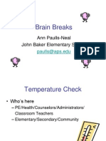 Brain Breaks Research Ppt