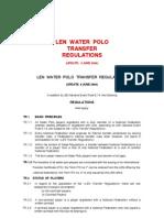 LEN - Waterpolo Transfer Regulations