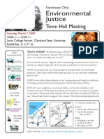 Cleveland Ohio Environmental Justice Town Hall Flier