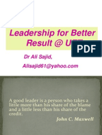 Leadership for better results