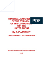 1935 Practical Experiences United Front O. PItanitsky 1935