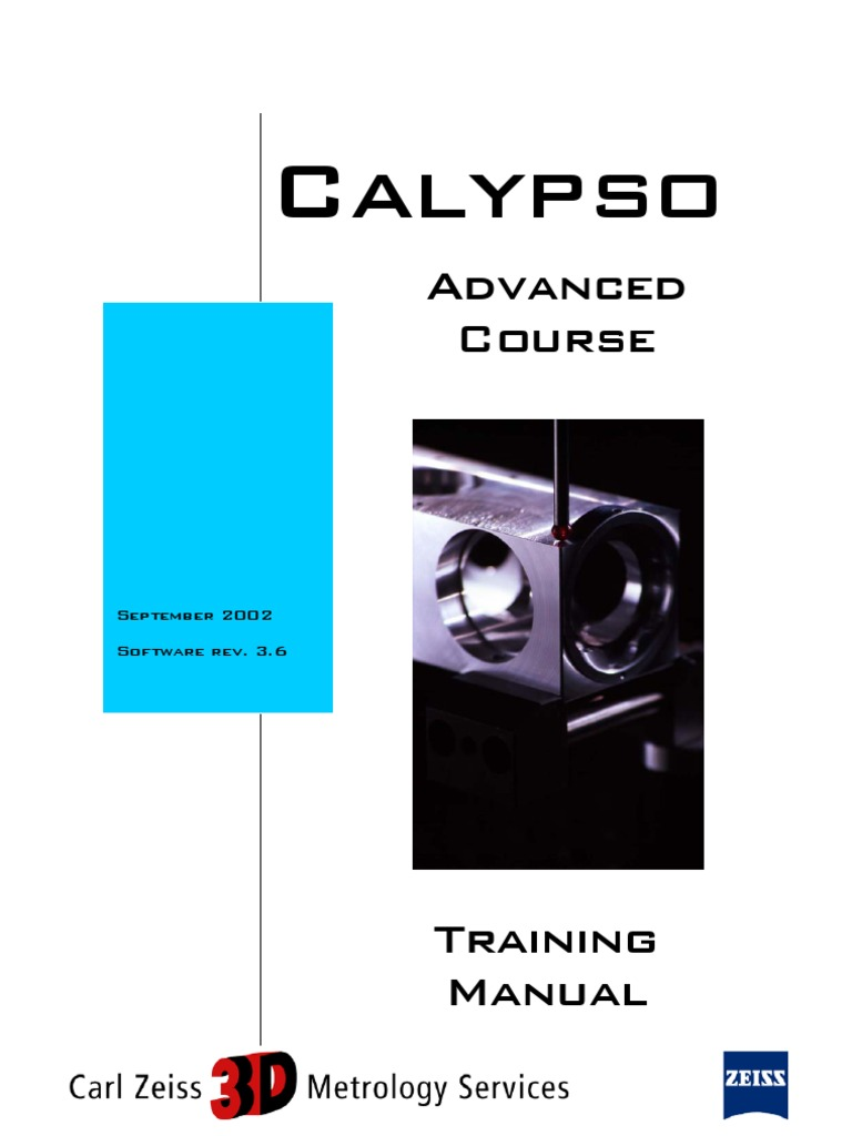 calypso advanced e 3 6 sz 001 surface roughness electronic filter rh scribd com Zeiss Eclipse CMM Zeiss Xxt Probe