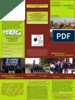 Brochure for Lansing Otsu Student Exchange Program