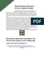 Código QR Quick Response Barcode o código de barras de respuesta rápida