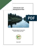 Seboomook Unit Final Plan