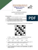 Recopilación Exámenes Secundaria Olimpiada Matemática